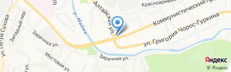 Мега на карте Горно-Алтайска