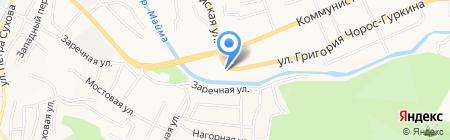 Русский фейерверк на карте Горно-Алтайска