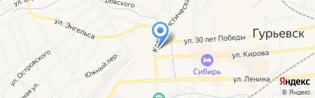 Кузнецксервисстрой НК на карте Гурьевска