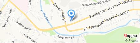 Папирус на карте Горно-Алтайска