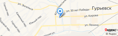 Центр гигиены и эпидемиологии в Кемеровской области на карте Гурьевска