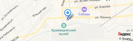Сибирские обои на карте Гурьевска