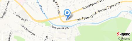 Денталь на карте Горно-Алтайска