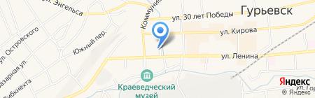 Силуэт на карте Гурьевска