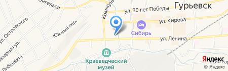 Сбербанк России на карте Гурьевска