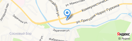 Погребок на карте Горно-Алтайска