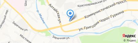 Табакерке на карте Горно-Алтайска
