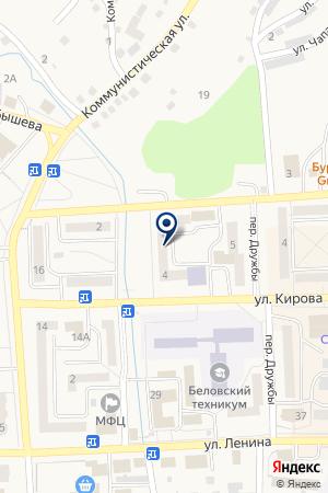 СТРАХОВАЯ КОМПАНИЯ БАСК на карте Гурьевска