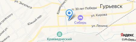 Цветущий сад на карте Гурьевска