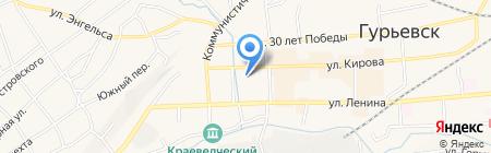 Беловский техникум железнодорожного транспорта на карте Гурьевска