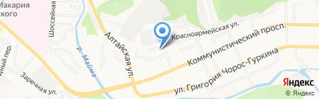 Уч-Сумер на карте Горно-Алтайска