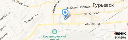 Пышка на карте Гурьевска