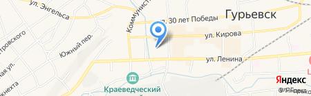 Магазин спецодежды на карте Гурьевска