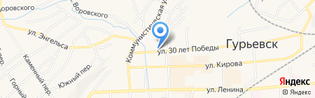 Автостоянка на ул. 30 лет Победы на карте Гурьевска