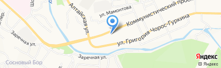 Горизонт на карте Горно-Алтайска