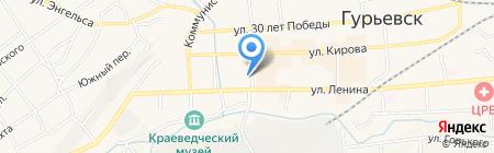 Участковый пункт полиции на карте Гурьевска