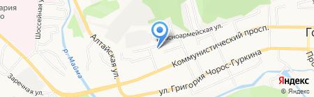 Мамонтова 15 на карте Горно-Алтайска