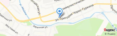 Евразия на карте Горно-Алтайска