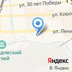 Общеобразовательная школа-интернат №6 на карте Гурьевска