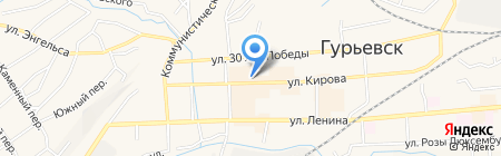 Шарм на карте Гурьевска
