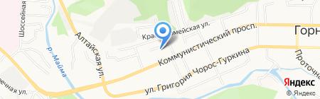 Детский сад №4 Медвежонок на карте Горно-Алтайска