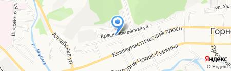 Данарт на карте Горно-Алтайска