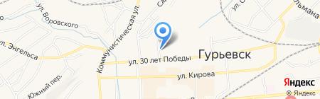 Кристина на карте Гурьевска
