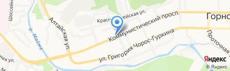 Авидо на карте Горно-Алтайска
