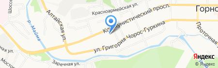 Сбербанк России на карте Горно-Алтайска