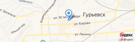 Детский сад №3 Звёздочка на карте Гурьевска