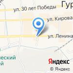 Каблучок на карте Гурьевска