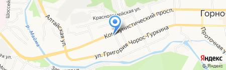 Алькон на карте Горно-Алтайска