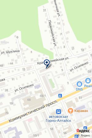 АЗС ГОРНО-АЛТАЙНЕФТЕПРОДУКТ на карте Горно-Алтайска