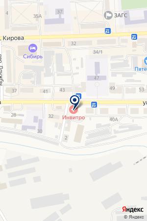ВОЕННЫЙ КОМИССАРИАТ на карте Гурьевска