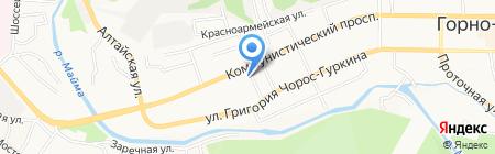 Почтовое отделение №6 на карте Горно-Алтайска