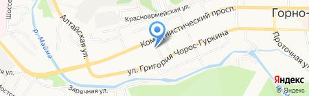 Магазин табачной продукции на карте Горно-Алтайска