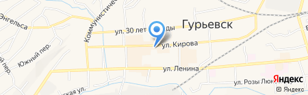 КБ АГРОПРОМКРЕДИТ на карте Гурьевска