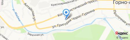 Фотография у вокзала на карте Горно-Алтайска