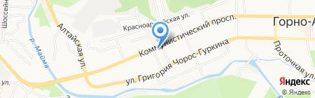 Карамель на карте Горно-Алтайска