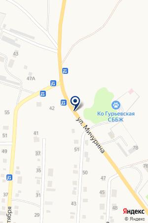АЗС №22 КУЗБАССНЕФТЕПРОДУКТ на карте Гурьевска