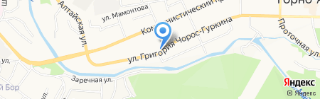 Магазин детской одежды и трикотажа на карте Горно-Алтайска