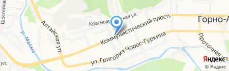 Чебуречная на карте Горно-Алтайска
