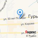 Городская стоматологическая поликлиника на карте Гурьевска