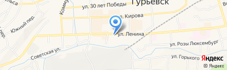 Эмилия на карте Гурьевска