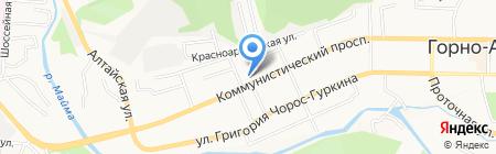Точка экстрима на карте Горно-Алтайска