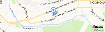 Toyota-сервис на карте Горно-Алтайска