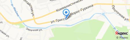 Малые ГЭС Алтая на карте Горно-Алтайска