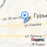 Сбербанк на карте Гурьевска