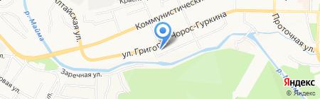 Игман на карте Горно-Алтайска