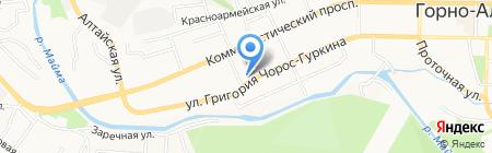 Управление пенсионного фонда РФ в г. Горно-Алтайске на карте Горно-Алтайска